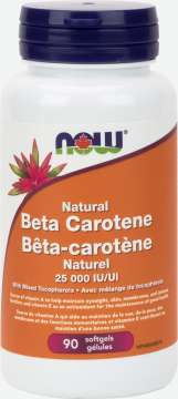 Beta Carotene 25,000 IU Softgels