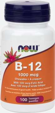 B-12 1,000 mcg Chewable Lozenges