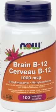 Brain B-12 with 1,000 mcg Methylcobalamin Lozenges