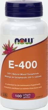 E-400 IU 100% Natural Mixed Tocopherols  Softgels