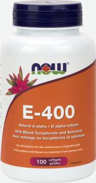 E-400 Mixed Tocopherols with Selenium  Softgels
