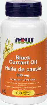 Black Currant Oil 500 mg Softgels