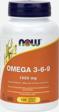 Omega 3-6-9 Seed Oil Blend 1,000 mg Softgels