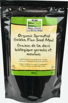 Golden Flax Seed Meal, Sprouted, Organic
