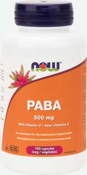 PABA 500 mg with Vitamin C  Veg Capsules