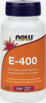 E-400 IU 100% Natural d-Alpha Tocopheryl  Softgels