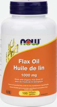 Flax Oil 1,000 mg  Softgels