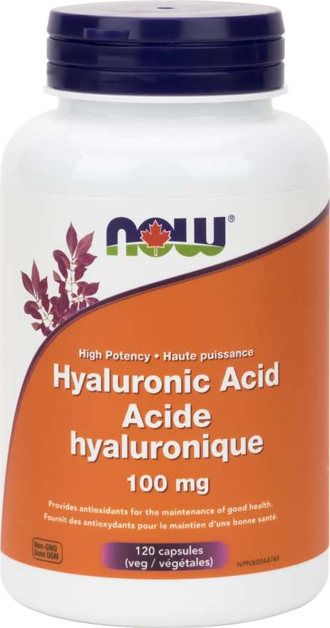Hyaluronic Acid 100 Mg Veg Capsules Now Foods Canada