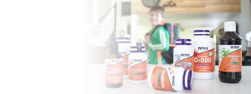 Back to School Hero Image Boy with backpack and Supplements