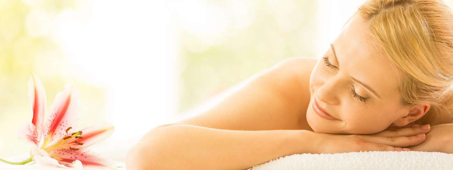 Woman Relaxing Enjoying Aromatherapy Essential Oils