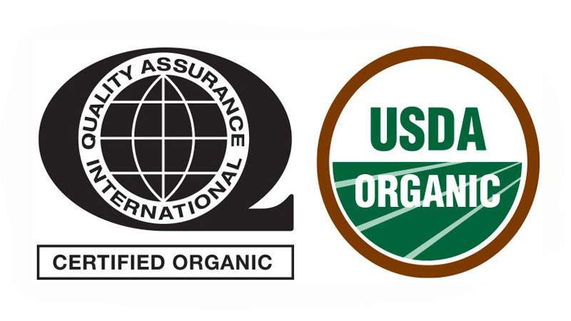 organic certification hero logos