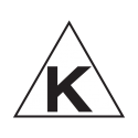 Seal indicating this product has been certified as Triangle K with Dairy