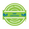 Seal indicating this product is GMP Certified by the Natural Products Association